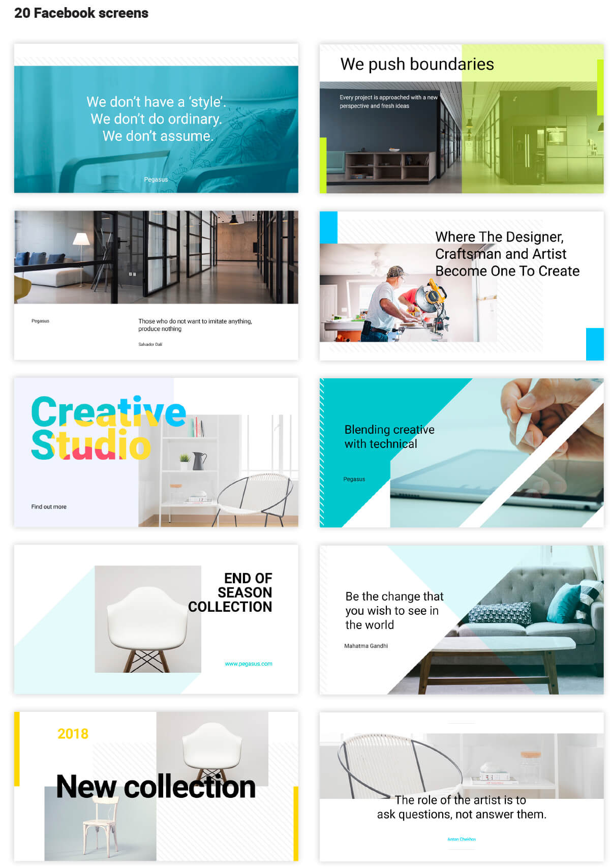 Great selection of Social Media Cards in Divi Den Pro Library