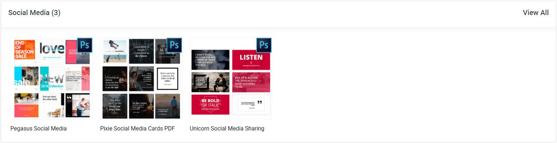 divi den pro social media card templates asset library