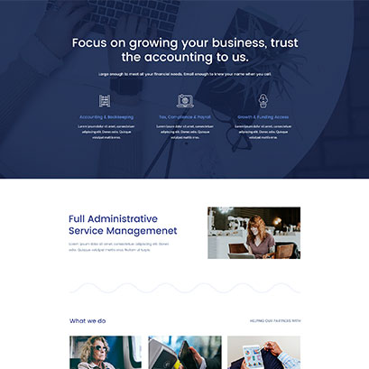 Accountant divi layout
