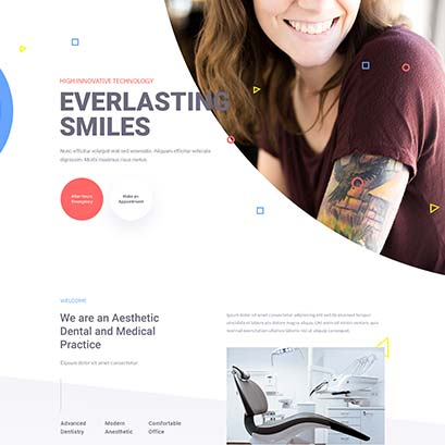 Dentist divi layout