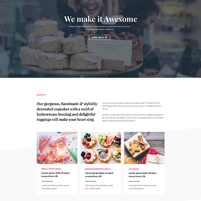 Homepage layout baking theme
