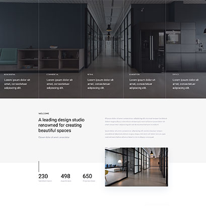 Interor Design divi layout