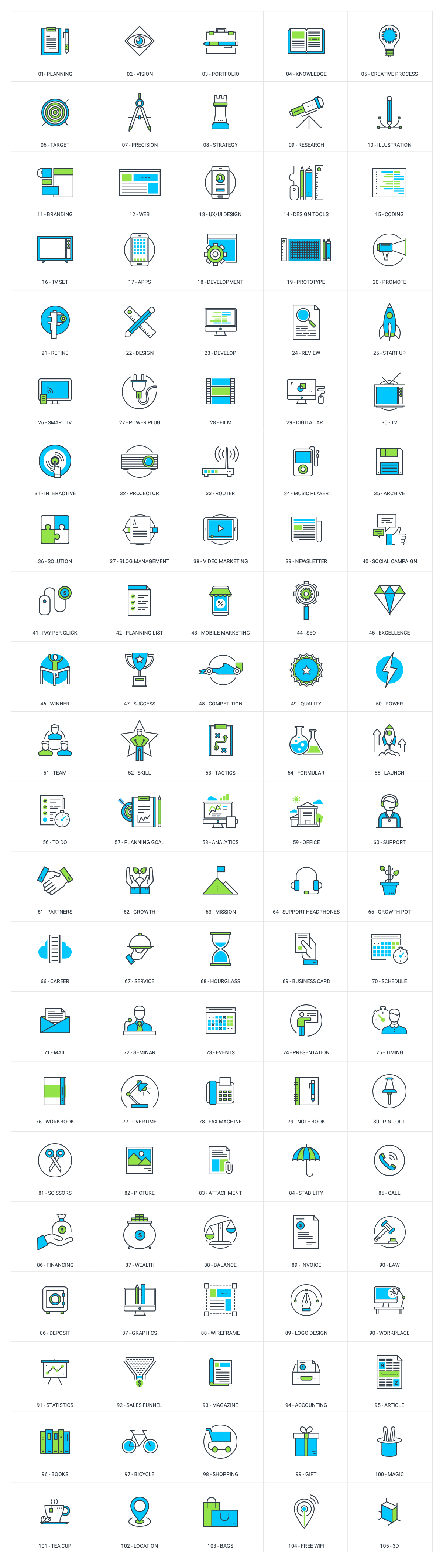 Icons BlueGreen