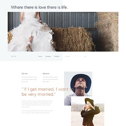wedding divi theme layout