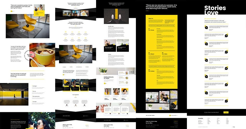 10 Divi Page Layouts plus 24 Divi Modules – 5 About Layouts, 4 Testimonials and a Contact Page