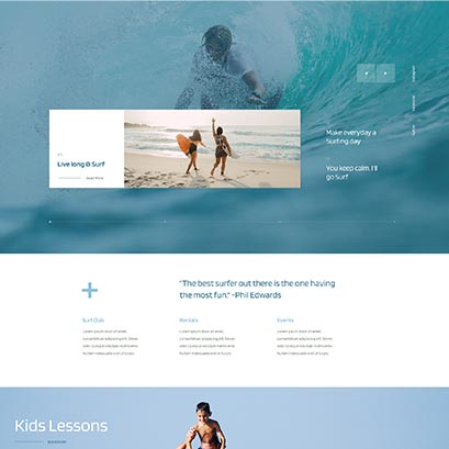 surf club divi layout