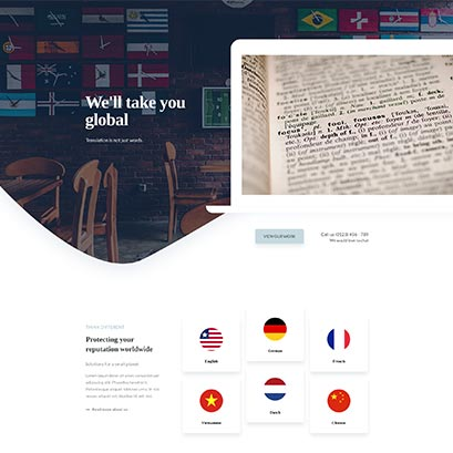 translator divi homepage