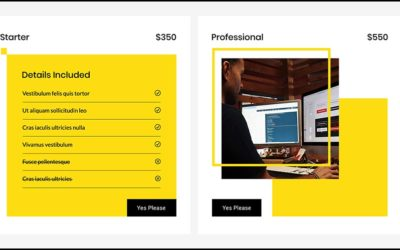 Example of a Premade Divi Pricing Table module made for the Divi Den Pro Library