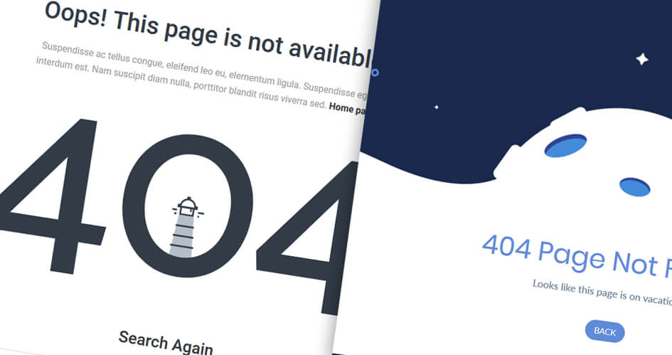 Stylish Divi 404 Page Templates | How to Make Your Own
