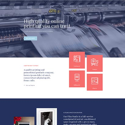 divi printer homepage