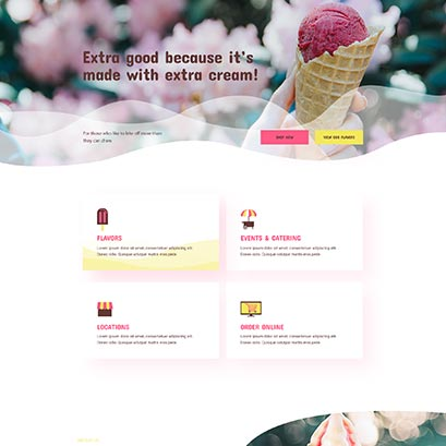 ice cream divi layout