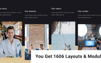Picture of a divi theme layout made by Divi Den Pro