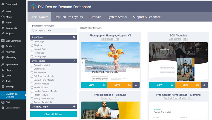 divi den on demand dashboard 900 500