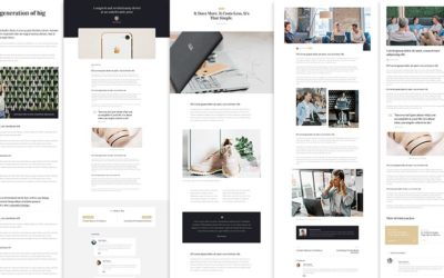 Premade divi blog post layouts by Divi Den Pro