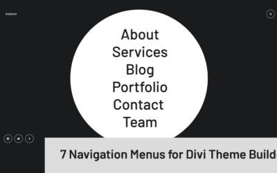 Ragnar Collection - 7 Navigation Menus for Divi Theme Builder
