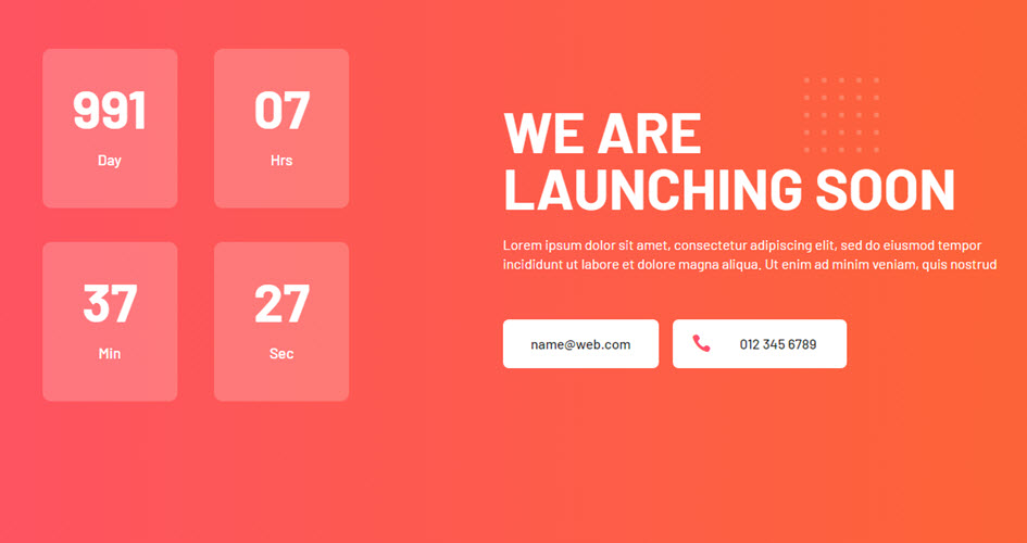 A Divi coming soon page layout by Divi Den Pro