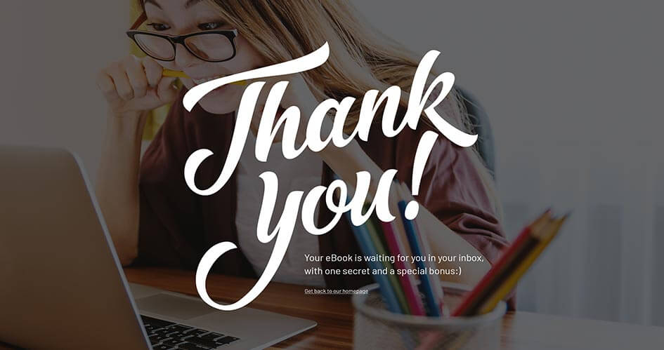 A Divi thank you page by Divi Den Pro