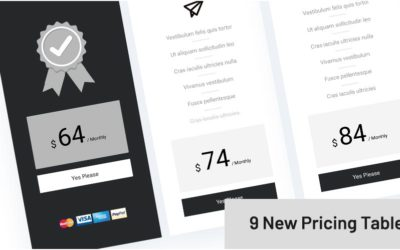 One example of the 9 New Pricing Tables for WooCommerce made by Divi Den Pro